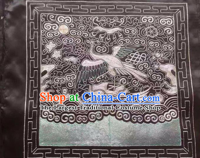 Chinese Traditional Embroidery Craft Embroidered Silk Patches Embroidering Accessories