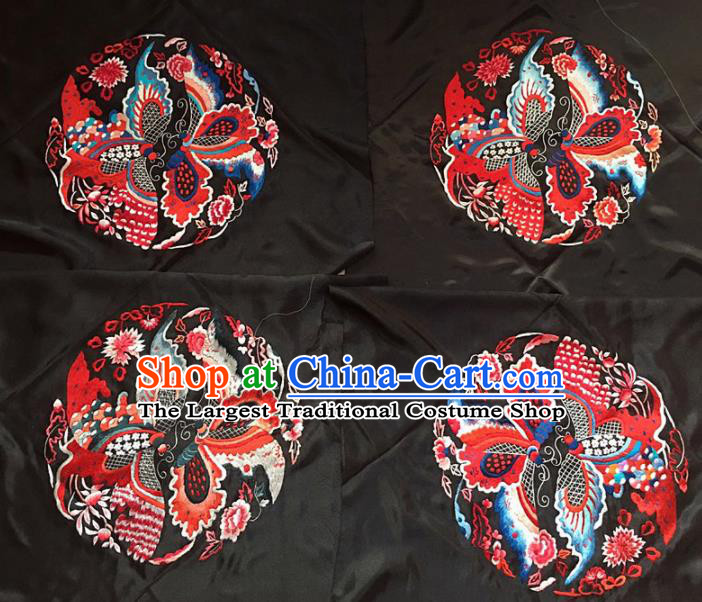 Chinese Traditional Embroidery Craft Embroidered Butterfly Patches Handmade Embroidering Accessories