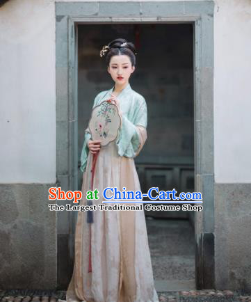Chinese Ancient Song Dynasty Princess Hanfu Dress Historical Costumes Complete Set for Women