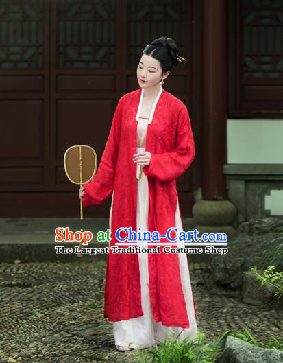 Chinese Traditional Song Dynasty Duchess Silk Historical Costumes Ancient Nobility Hanfu Dress for Women