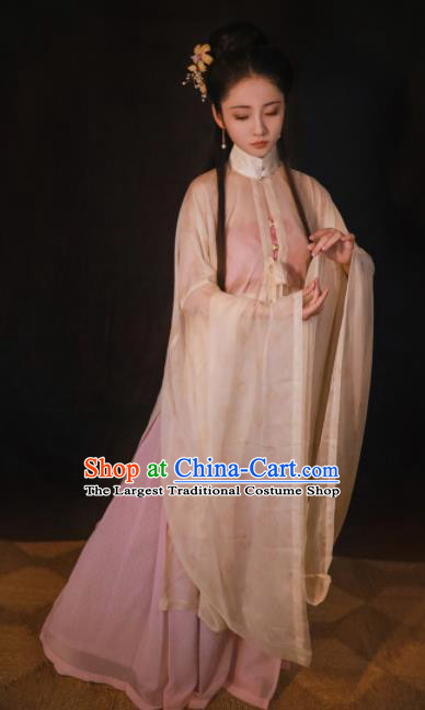 Chinese Traditional Ming Dynasty Palace Women Silk Historical Costumes Ancient Princess Hanfu Dress Complete Set