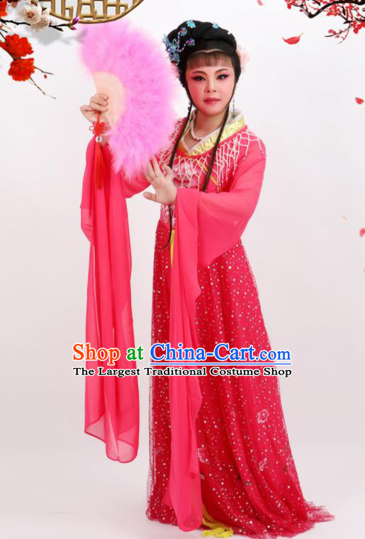 Professional Chinese Traditional Peking Opera Princess Rosy Dress Ancient Palace Lady Costume for Women