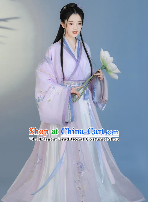 Traditional Chinese Jin Dynasty Court Lady Replica Costumes Ancient Royal Princess Hanfu Dress for Women