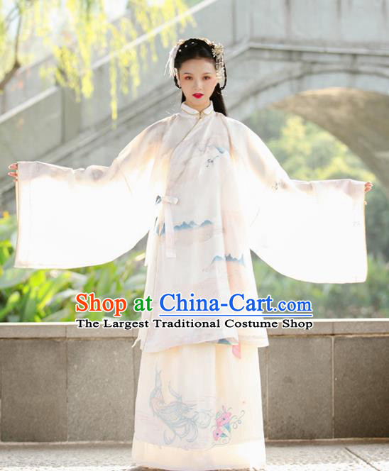 Traditional Chinese Ming Dynasty Nobility Lady Replica Costumes Ancient Royal Princess Hanfu Dress for Women