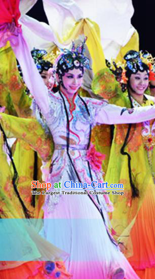 Traditional Chinese Classical Dance Competition Costumes Beijing Opera Group Dance Stage Show Dress for Women
