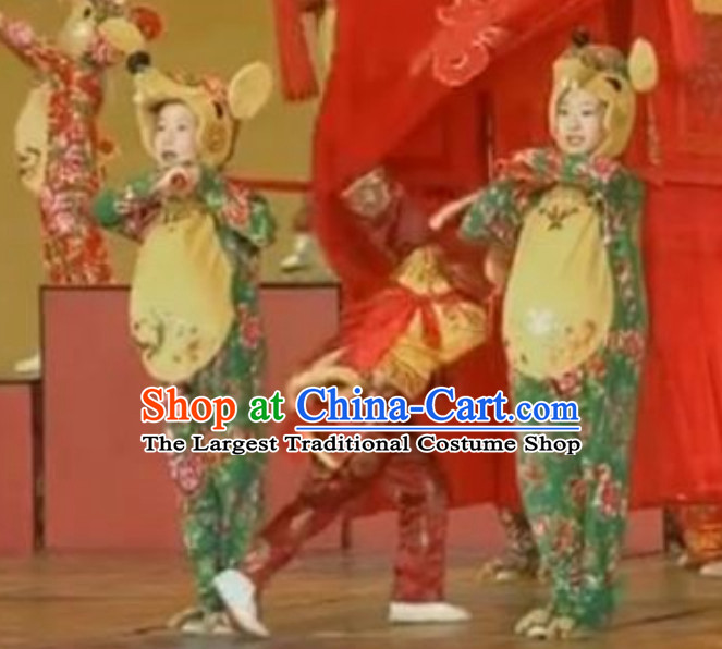 Traditional Chinese New Year Celebration Rat Year Mouse Dance Costume Complete Set for Adults or Children