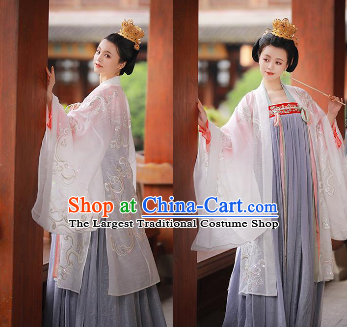 Asian Chinese Tang Dynasty Imperial Concubine Hanfu Dress Traditional Ancient Peri Princess Costumes for Women