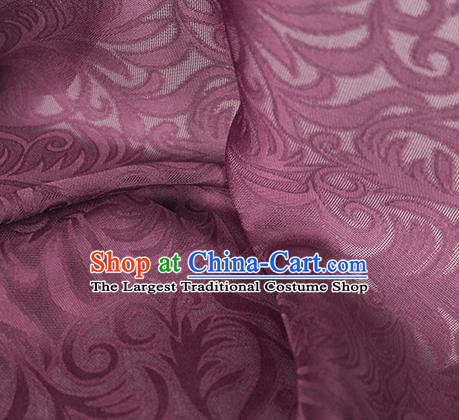 Traditional Chinese Classical Phoenix Flower Pattern Design Wine Red Silk Fabric Ancient Hanfu Dress Silk Cloth