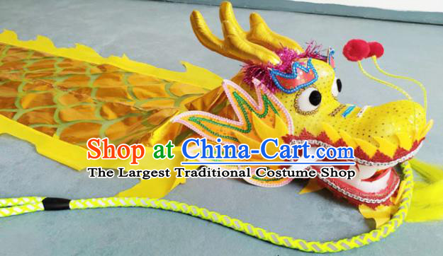 Chinese Folk Dance Dragon Dance Competition Yellow Dragon Head Traditional Dragon Dance Prop for Adult