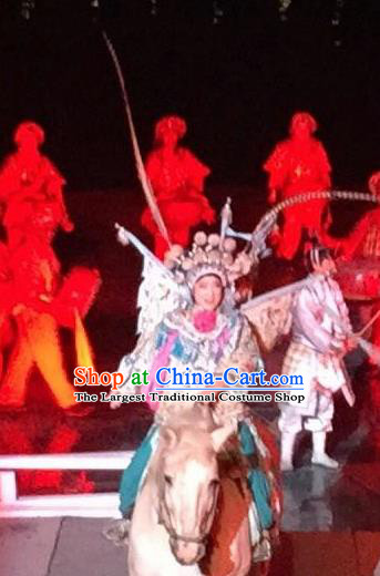 Chinese The Dream of Dongjing Song Dynasty Beijing Opera Yue Fei Stage Performance Costume for Men