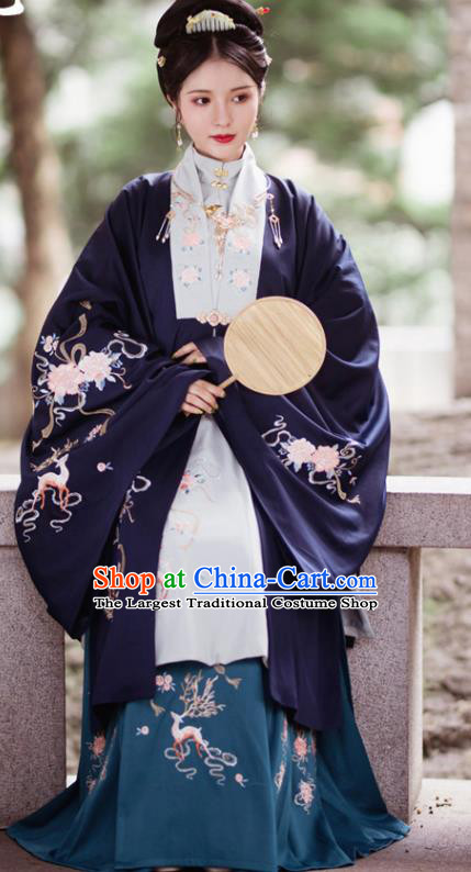 Traditional Chinese Ming Dynasty Nobility Dowager Replica Costumes Ancient Royal Lady Hanfu Dress for Women