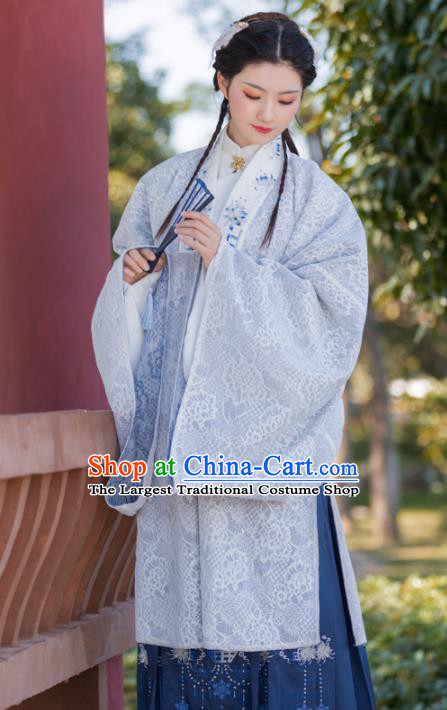 Traditional Chinese Ming Dynasty Imperial Concubine Replica Costumes Ancient Nobility Dowager Embroidered Hanfu Dress for Women