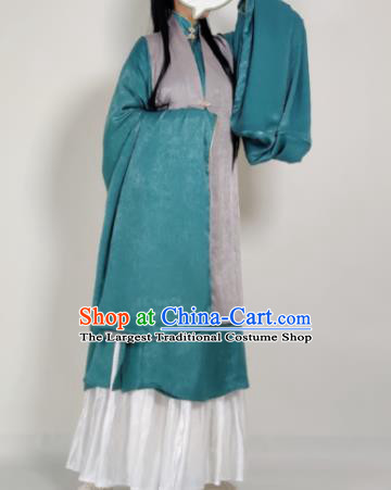 Chinese Ming Dynasty Princess Grey Vest Ancient Court Lady Costume for Women