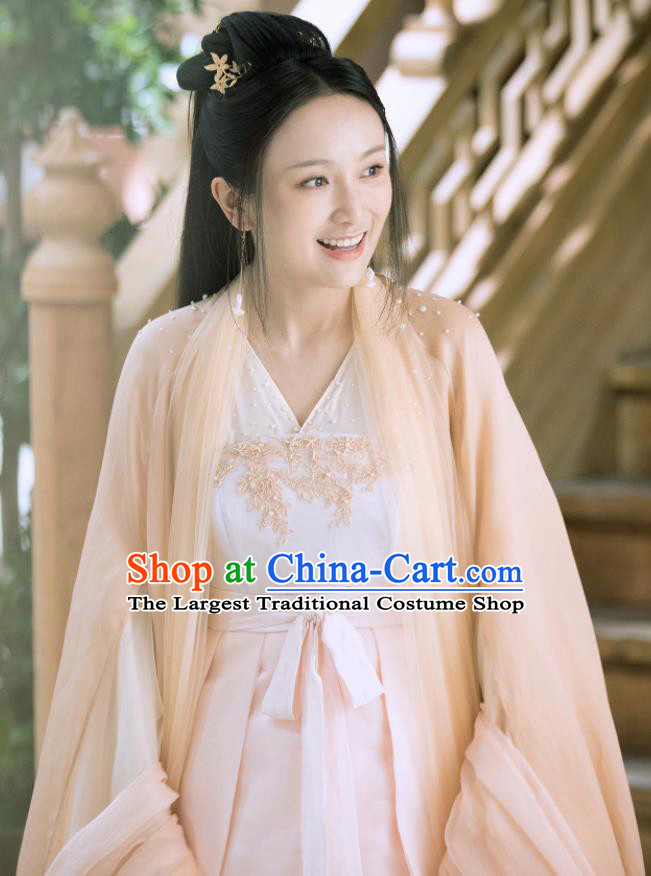 Drama Love and Destiny Chinese Ancient Goddess Princess Yu Li Replica Costumes and Headpiece for Women