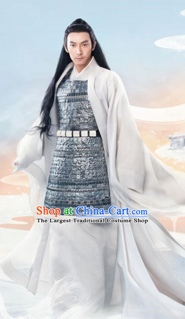 Chinese Ancient God of War Jiu Chen Drama Love and Destiny Swordsman Chang Chen Replica Costumes for Men