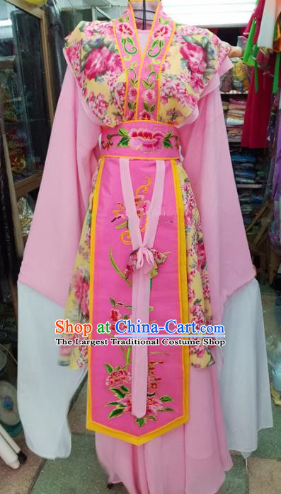 Chinese Traditional Beijing Opera Pink Dress Peking Opera Actress Water Sleeve Costume for Adults