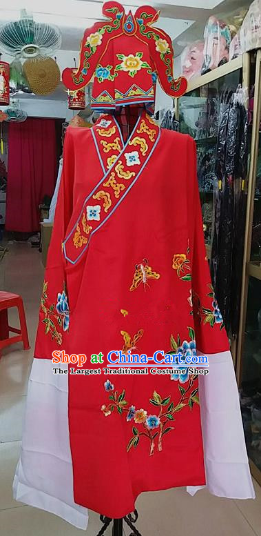 Chinese Traditional Beijing Opera Niche Costume Peking Opera Nobility Childe Red Robe for Adults