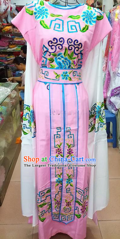 Chinese Traditional Beijing Opera Nobility Childe Costume Peking Opera Niche Pink Robe for Adults