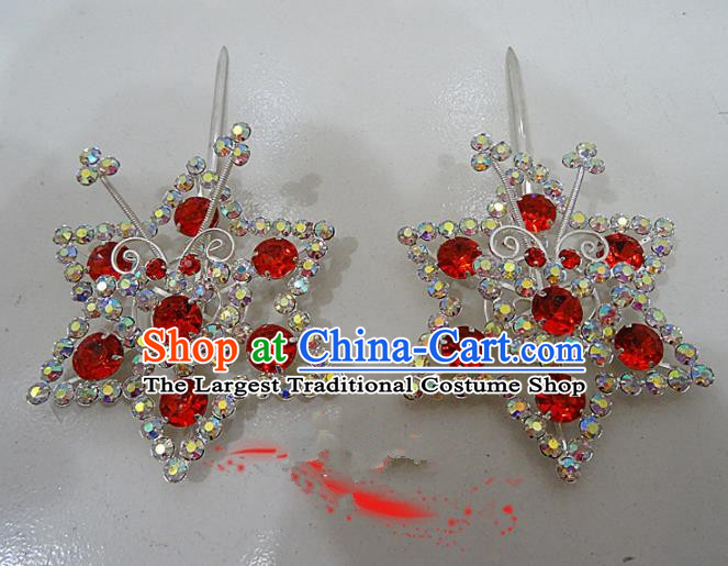 Chinese Traditional Beijing Opera Crystal Hairpins Princess Hair Clip Hair Accessories for Adults