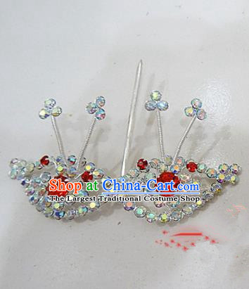 Chinese Traditional Beijing Opera Diva Hairpins Princess Crystal Hair Clip Hair Accessories for Adults