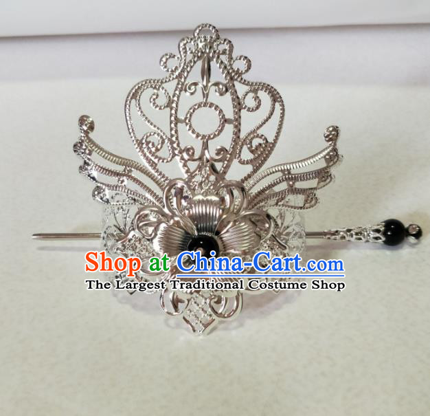 Chinese Traditional Hair Accessories Ancient Swordsman Prince Hairdo Crown Headwear for Men