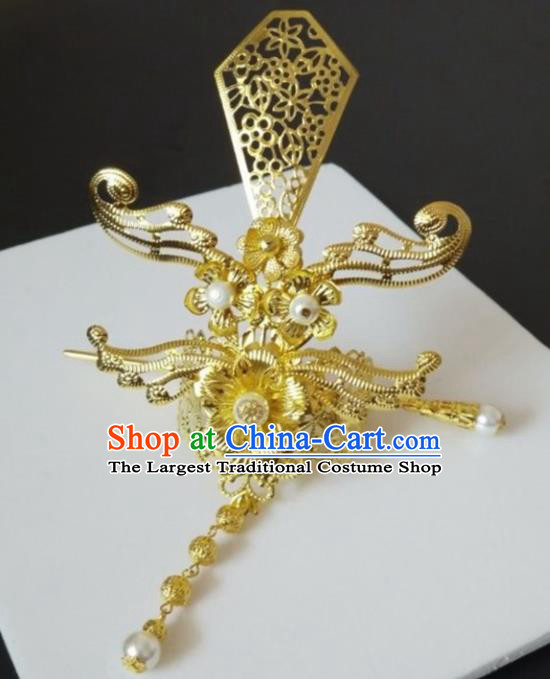 Chinese Traditional Nobility Childe Hair Accessories Hairpins Ancient Swordsman Hairdo Crown for Men