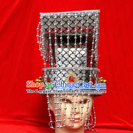 Chinese Traditional Beijing Opera Hat Peking Opera Emperor Tassel Hat