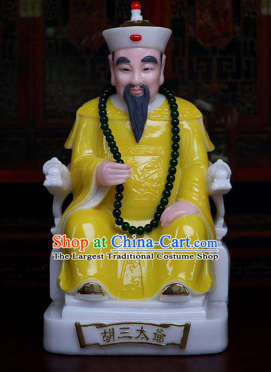 Chinese Traditional Religious Supplies Feng Shui Gnome Yellow Cloth Statue Taoism Decoration