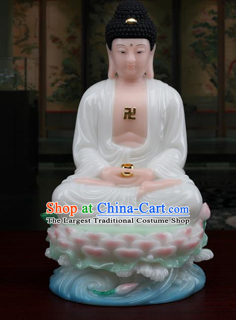 Chinese Traditional Religious Supplies Feng Shui Buddha White Cloth Statue Buddhism Decoration
