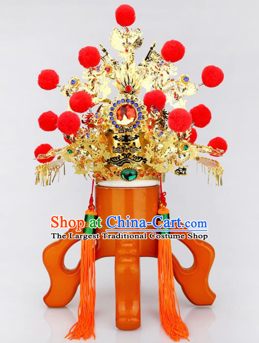 Chinese Traditional Religious Hair Accessories Feng Shui Taoism Gnome Helmet Hat