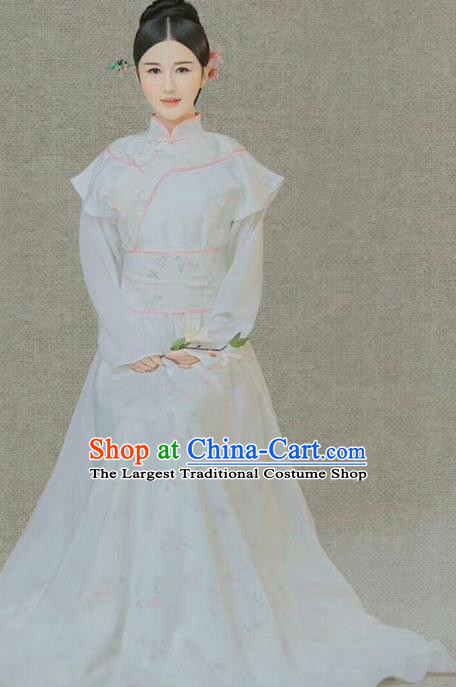 Chinese Ancient Aristocratic Lady Hanfu Dress Traditional Qing Dynasty Palace Princess Costume and Headpiece for Women