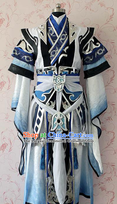 Chinese Ancient Taoist Swordsman Costume Traditional Cosplay General Clothing for Men