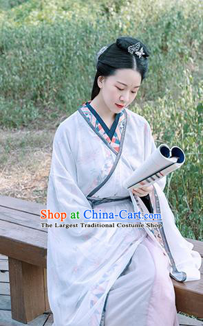 Traditional Chinese Ancient Jin Dynasty Princess Swordswoman Historical Costume Complete Set for Women