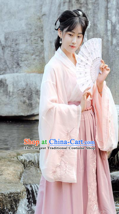 Chinese Ancient Jin Dynasty Princess Hanfu Dress Historical Costume Complete Set for Women