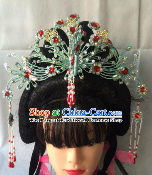 Asian Chinese Beijing Opera Hair Accessories Ancient Princess Phoenix Coronet Hairpins for Women