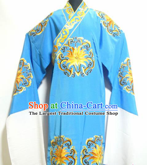Traditional Chinese Beijing Opera Niche Costume Ancient Nobility Childe Blue Robe