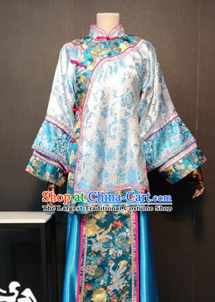 Traditional Chinese Ancient Drama Qing Dynasty Young Mistress Costume for Women