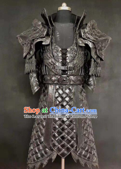 Chinese Ancient Drama Han Dynasty Warrior Costume General Body Armor Complete Set