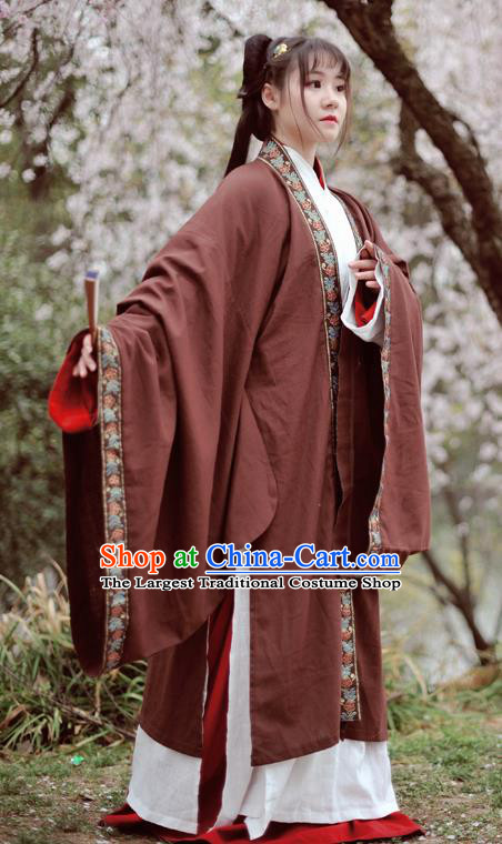 Chinese Ancient Traditional Hanfu Dress Han Dynasty Swordswoman Historical Costume Complete Set for Women