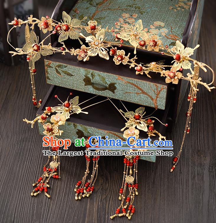 Chinese Ancient Hair Accessories Wedding Butterfly Hair Clasp Hairpins Traditional Hair Clip for Women