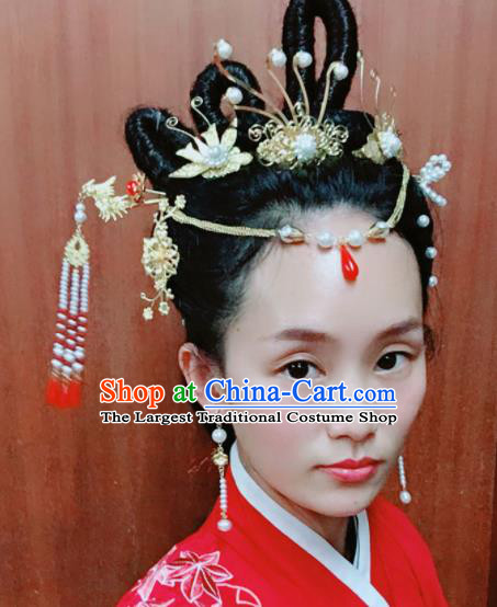 Chinese Ancient Palace Hair Accessories Queen Hairpins Traditional Hair Clips Complete Set for Women