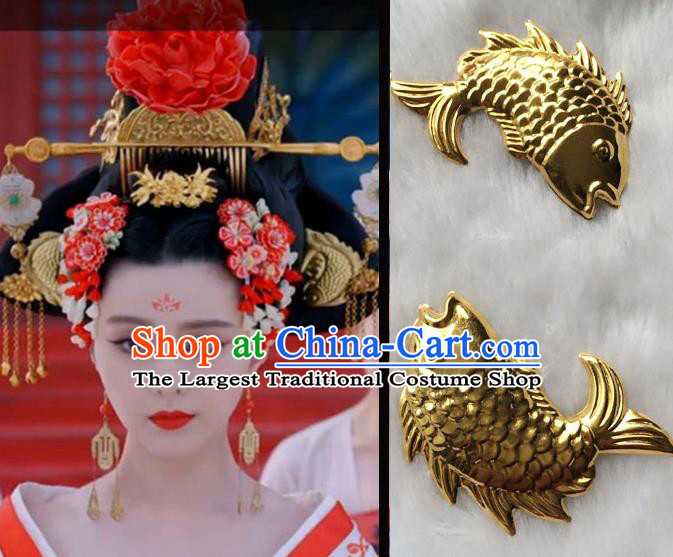 Chinese Traditional Palace Hairpins Ancient Tang Dynasty Queen Hair Accessories Complete Set for Women