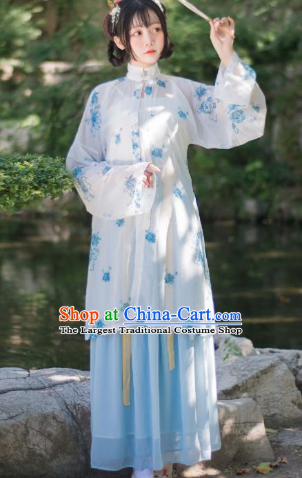 Chinese Ancient Hanfu Dress Song Dynasty Young Lady Traditional Historical Costume for Women