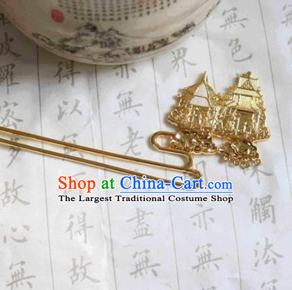 Chinese Ancient Traditional Handmade Golden Hairpins Classical Hair Accessories for Women