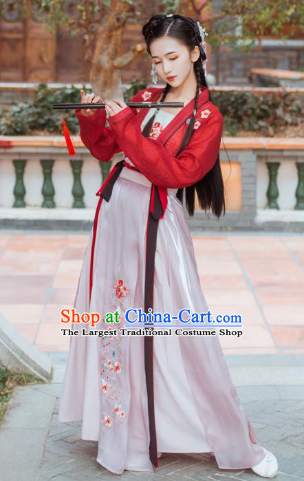 Chinese Traditional Ming Dynasty Female Knight Historical Costume Ancient Swordswoman Hanfu Dress for Women
