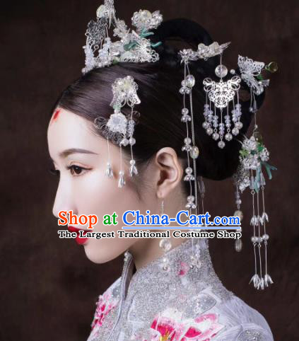 Top Grade Chinese Ancient Queen Hair Crown Hairpins Traditional Hair Accessories Headdress for Women
