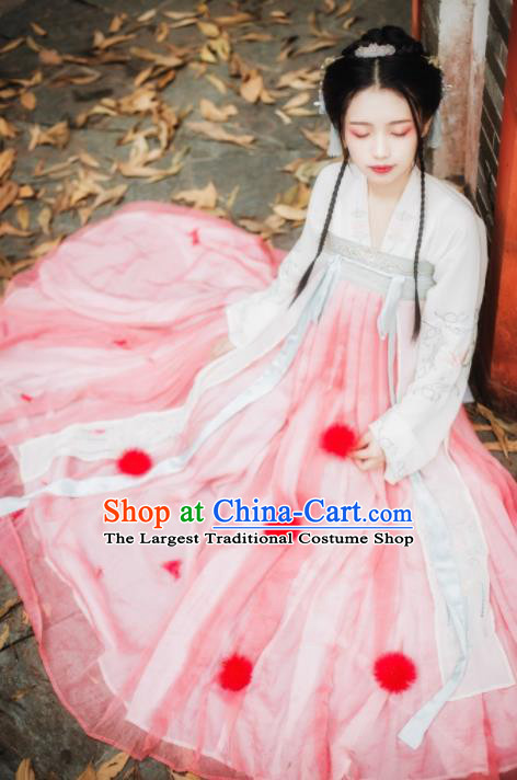 Chinese Traditional Tang Dynasty Princess Historical Costume Ancient Noble Lady Hanfu Dress for Women