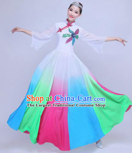Chinese Traditional Chorus Dress Opening Dance Modern Dance Stage Performance Costume for Women