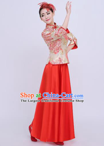 Chinese Traditional Chorus Opening Dance Dress Modern Dance Stage Performance Costume for Women
