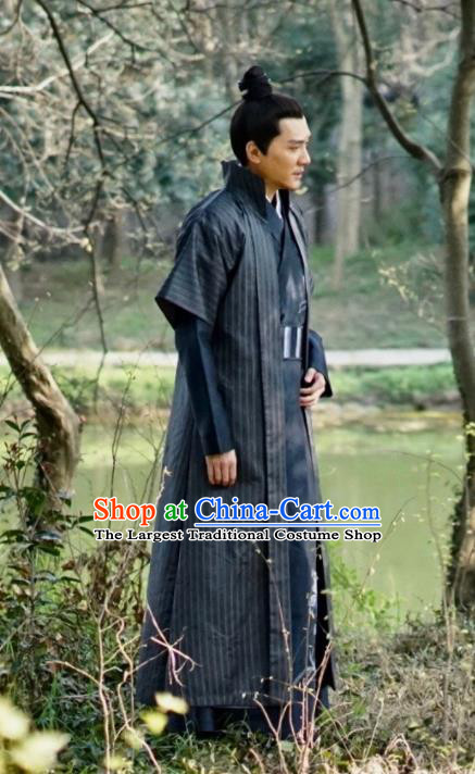 Chinese The Story Of MingLan Song Dynasty Historical Costume Ancient Swordsman Clothing for Men